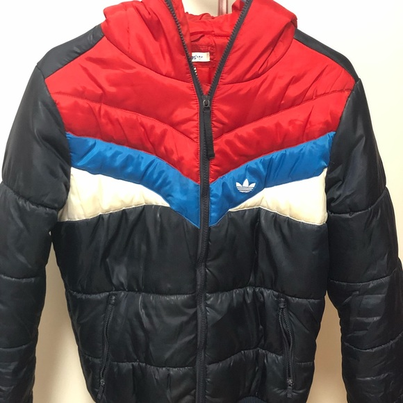 Adidas colorblock puffer jacket